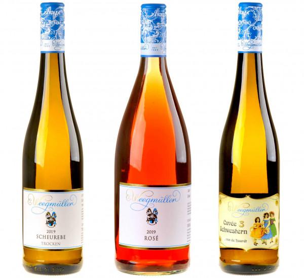 3er-Weinpaket Haardt, aber herzlich! zum vinocentral-Livestream: 3 Gläser Weegmüller