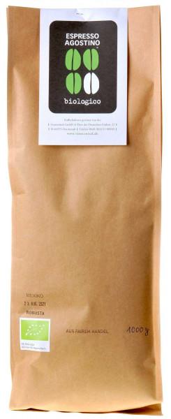 Espresso Agostino Biologico: Mexico Robusta 1kg