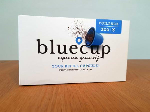 bluecup Foil pack 200 RT mit 200 lids