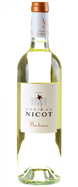 Château Nicot - Vignobles Dubourg Bordeaux Blanc Sec 2019