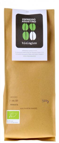 Espresso Agostino Biologico: Mexico Robusta 500g