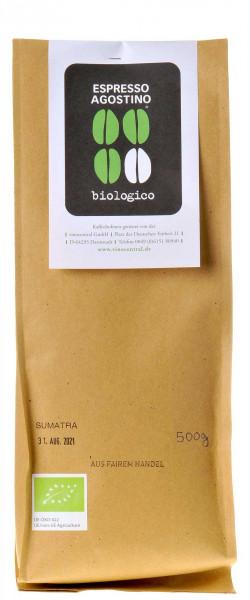 Espresso Agostino Biologico: Sumatra Pongo Arabica 500g