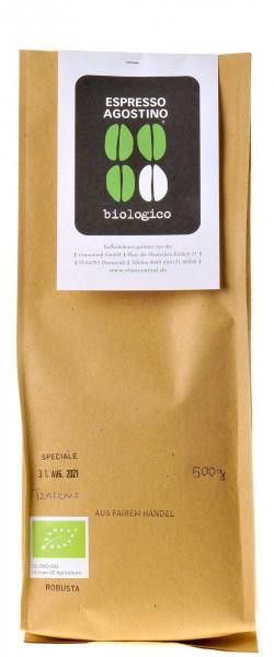 Espresso Agostino Biologico: Tanzania Robusta 500g