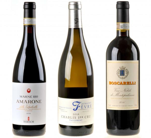 3er-Weinpaket Das Beste zum Feste, Ergänzung zum vinocentral-Livestream 3 Gläser: Festtagswein