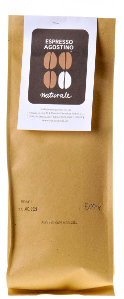 Espresso Agostino Naturale: Brasil Sao Silvestre Arabica 500g