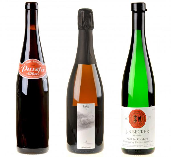 3er-Weinpaket Grill gut mit Wein zum vinocentral-Livestream 3 Gläser BBQ Wine