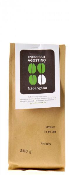Espresso Agostino Biologico: Robusta Mexico 250g: DE-ÖKO-022