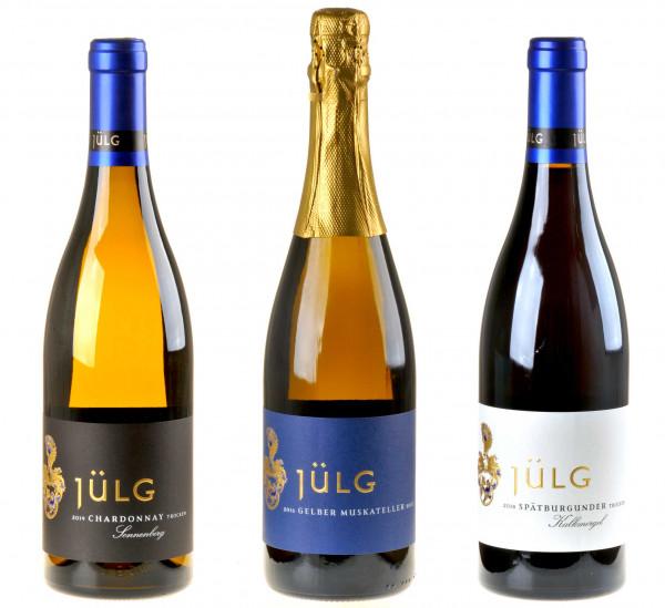 3er-Weinpaket Jumelage zum vinocentral-Livestream 3 Gläser mit Johannes Jülg
