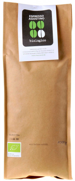 Espresso Agostino Biologico: Sumatra Pongo Arabica 1kg