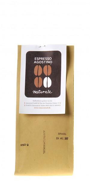 Espresso Agostino Cento per cento: Brasil Fazenda Capim Branco, natural, BSCA & UTZ Certified  250g