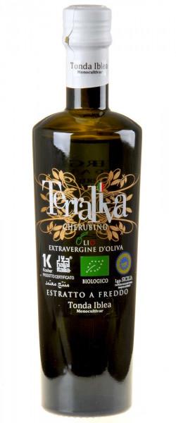 Terraliva weisse Kapsel Cherubino Tonda Iblea Olivenöl Extra Vergine Bio 2020 500ml
