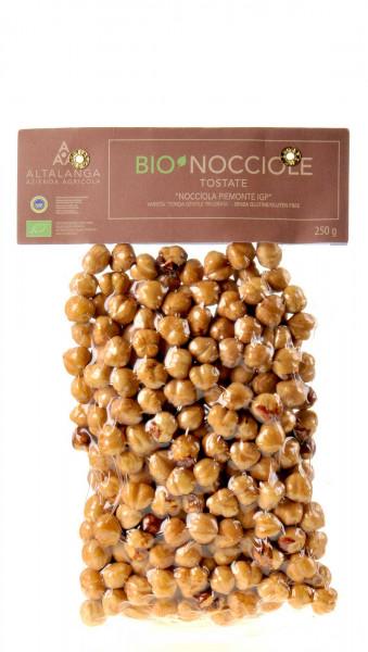 Altalanga azienda agricola Piemonteser Haselnüsse geröstet Vakuum verpackt Bio 250g