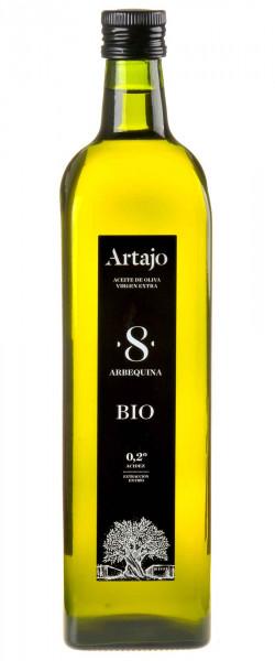 Artajo 8 Arbequina Olivenöl Extra Vergine Bio 2020 1l in Glasflasche