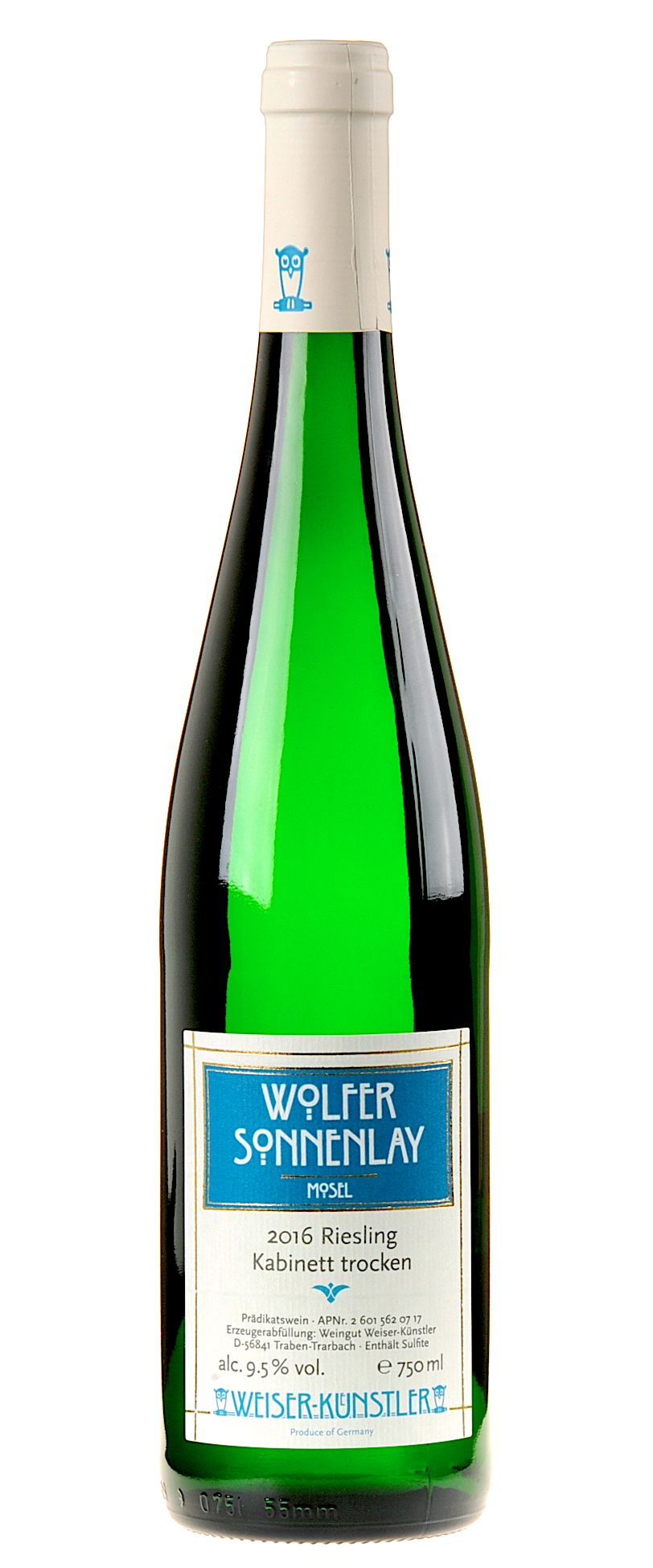 Weiser-Künstler Riesling Wolfer Sonnenlay Kabinett trocken 2016 ...