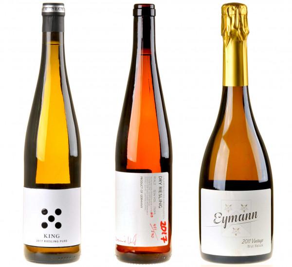 3er-Weinpaket Pfälzer Jungs zum vinocentral-Livestream: 3 Gläser Eymann - Seckinger - Wolf