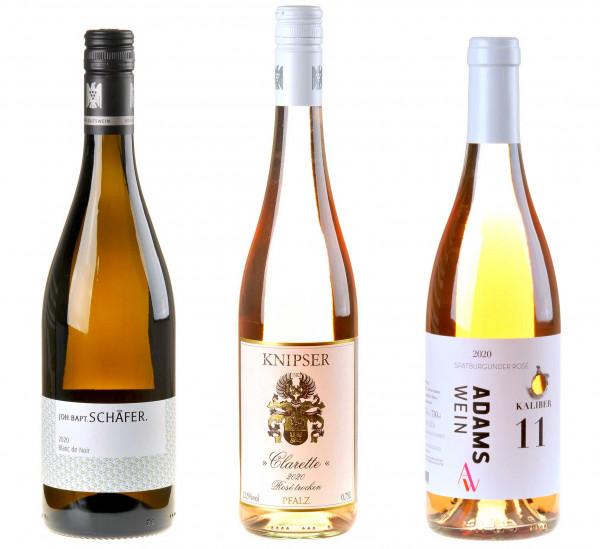 3er Weinpaket Drink Pink! zum vinocentral-Livestream: 3 Gläser Rosé