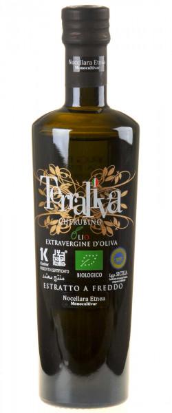 Terraliva Cherubino schwarze Kapsel Nocellara Etnea Olivenöl Extra Vergine 2020 Bio 500ml