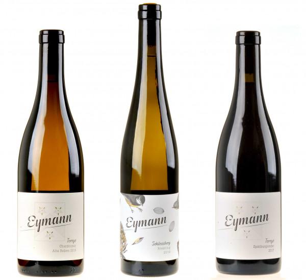 3er-Weinpaket Tiefwurzler zum vinocentral-Livestream 3 Gläser mit Vincent Eymann