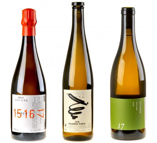 3er-Weinpaket Tour de Nature Deutschland zum vinocentral-Livestream 3 Gläser Naturwein Part I