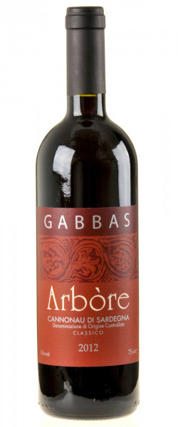 Gabbas Arbore Cannonau di Sardegna Riserva 2012