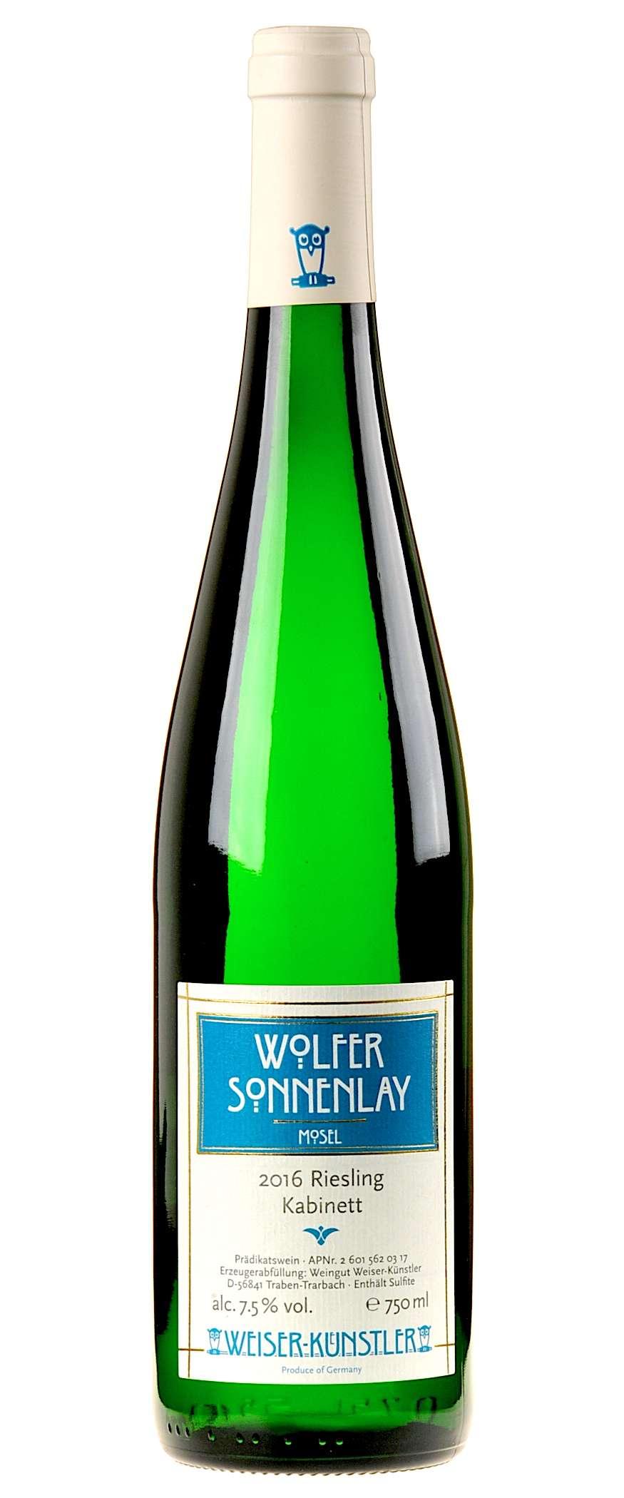 Weiser-Künstler Riesling Wolfer Sonnenlay Kabinett 2016   Weißweine ...