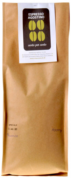 Espresso Agostino Cento per cento: Ruanda Robusta 1kg