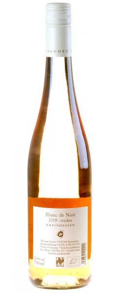 Weingut Sander Blanc de Noir vom Merlot Bio 2019 Rücketikette