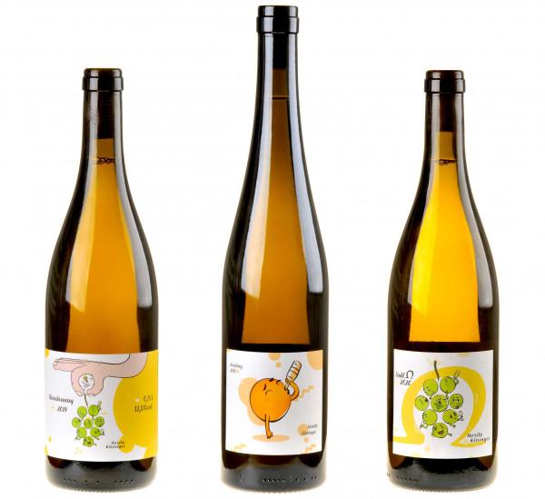 3er-Weinpaket Vibrierende Frische zum vinocentral-Livestream 3 Gläser mit Moritz Kissinger