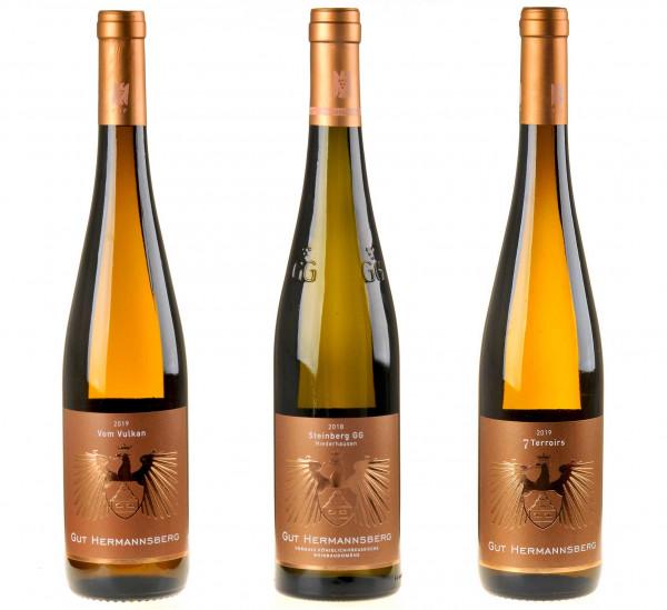 3er-Weinpaket Faszination Riesling zum vinocentral-Livestream 3 Gläser mit Stuart Pigott